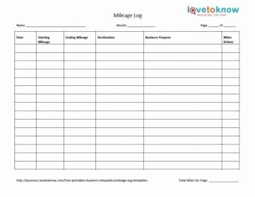 Free Printable Mileage Log Awesome 10 Excel Mileage Log Templates Excel Templates