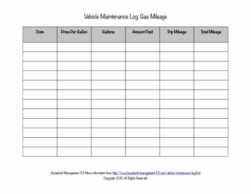 Free Printable Mileage Log Beautiful Free Printable Vehicle Maintenance Log why You Should
