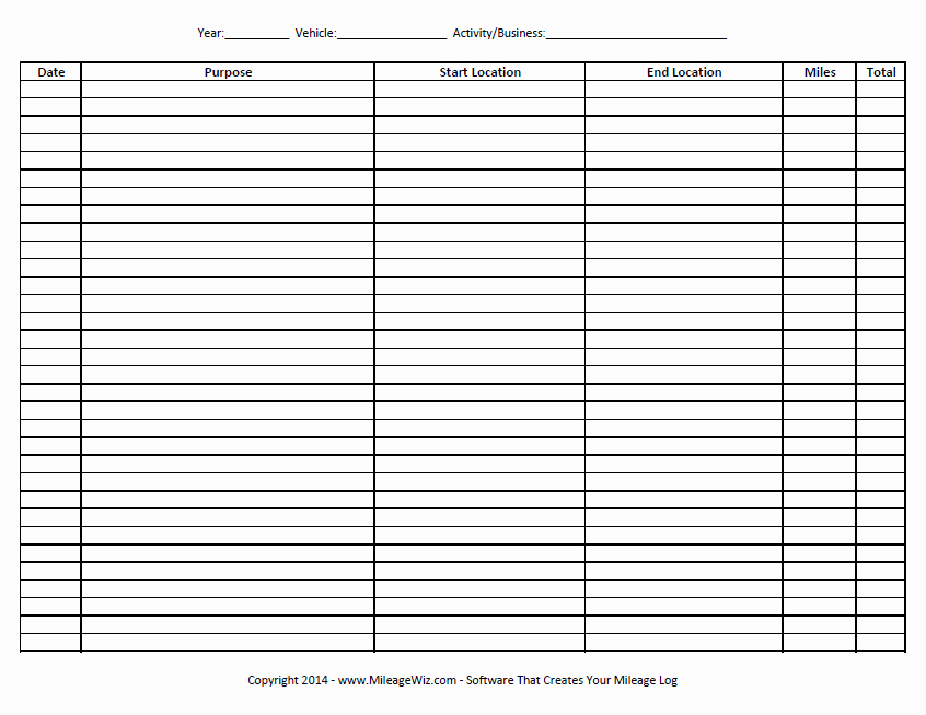 Free Printable Mileage Log Fresh 22 Printable Mileage Log Examples Pdf