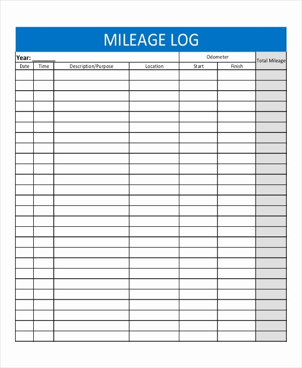 Free Printable Mileage Log Inspirational 13 Log Templates Free Sample Example format