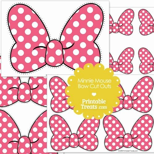 Free Printable Minnie Mouse Bow Template Awesome Pink Minnie Mouse Bow Cut Outs From Printabletreats