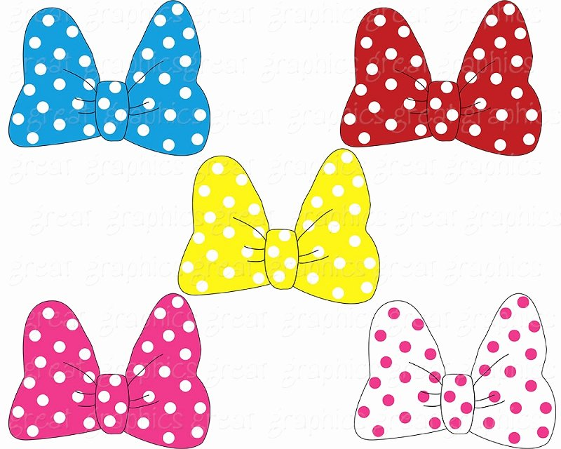 Free Printable Minnie Mouse Bow Template New Minnie Mouse Bow Clip Art Free Clipground