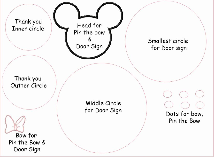 Free Printable Minnie Mouse Bow Template Unique Minnie Mouse Silhouette Pattern Becuo