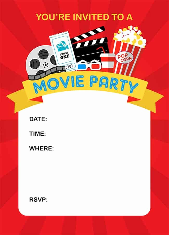 Free Printable Movie Ticket Invitations Awesome How to Throw A Fun Backyard Movie Party