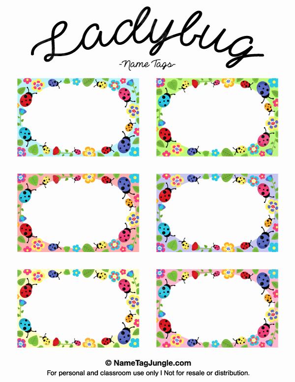Free Printable Name Tags for Preschoolers Awesome Printable Ladybug Name Tags