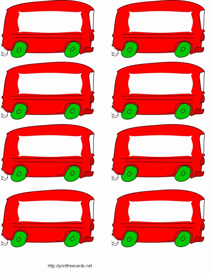 Free Printable Name Tags for Preschoolers Beautiful Free Printable Name Tags Red Bus School