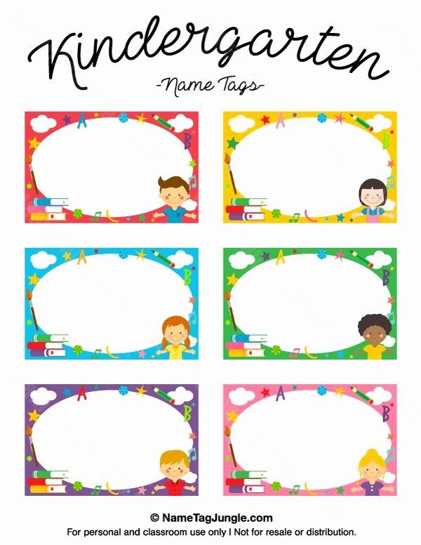 Free Printable Name Tags for Preschoolers Elegant Kindergarten Name Tags