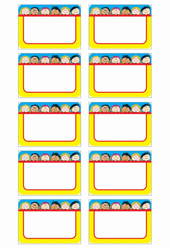Free Printable Name Tags for Preschoolers Elegant Name Tag Template