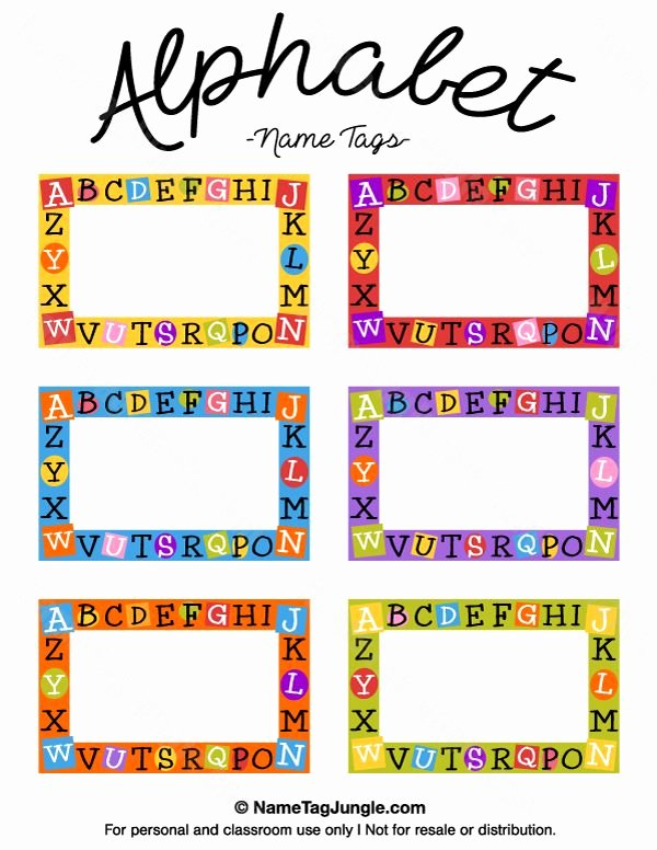 Free Printable Name Tags for Preschoolers Unique Free Printable Alphabet Name Tags the Template Can Also