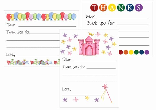 Free Printable Note Card Template Awesome Printable Thank You Card Templates for Kids