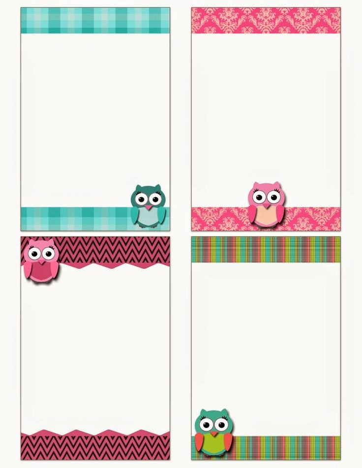 Free Printable Note Card Template Best Of Free Printable Owl Notecards Crafts Pinterest