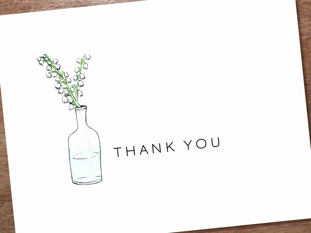 Free Printable Note Card Template Elegant Printable Thank You Card Template Instant Download by Empapers