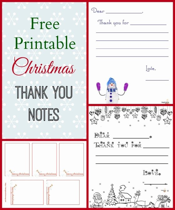 Free Printable Note Card Template Fresh 3 Free Printable Christmas Thank You Notes for Kids