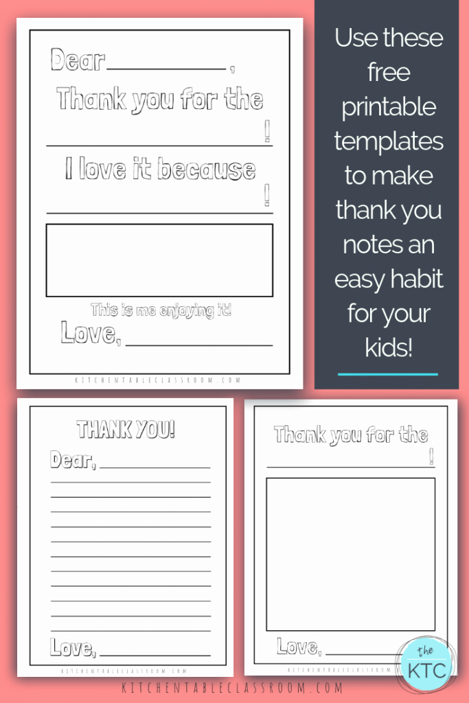 Free Printable Note Card Template Lovely Printable Thank You Cards for Kids the Kitchen Table