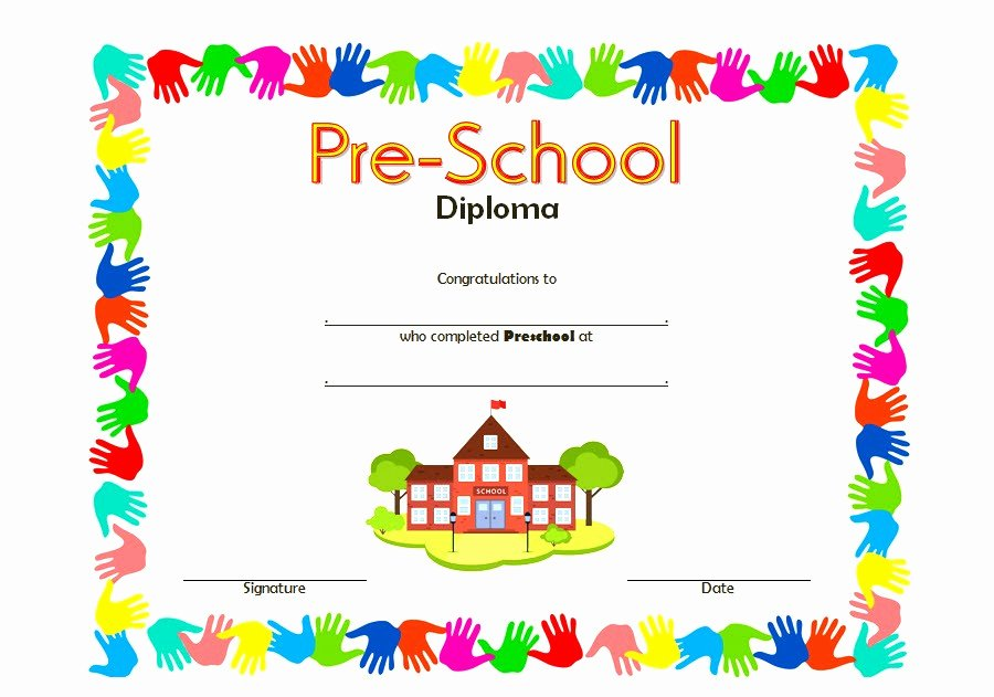 Free Printable Preschool Graduation Program Templates Beautiful Kindergarten Certificates Templates
