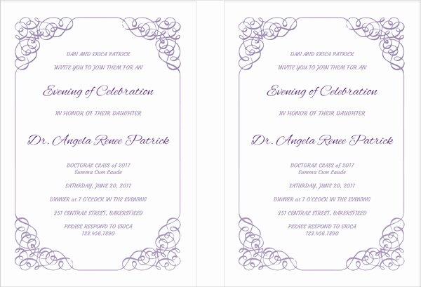 Free Printable Preschool Graduation Program Templates Elegant 42 Printable Graduation Invitations Psd Ai Word