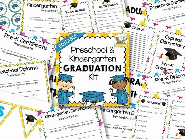 Free Printable Preschool Graduation Program Templates Inspirational Preschool Graduation Kit Pre K Pages