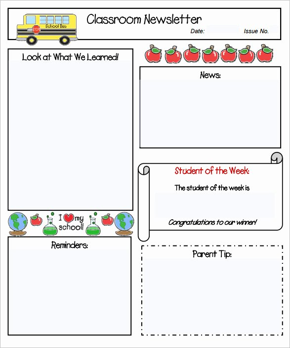 Free Printable Preschool Newsletter Templates Awesome Sample Kindergarten Newsletter Template 15 Free