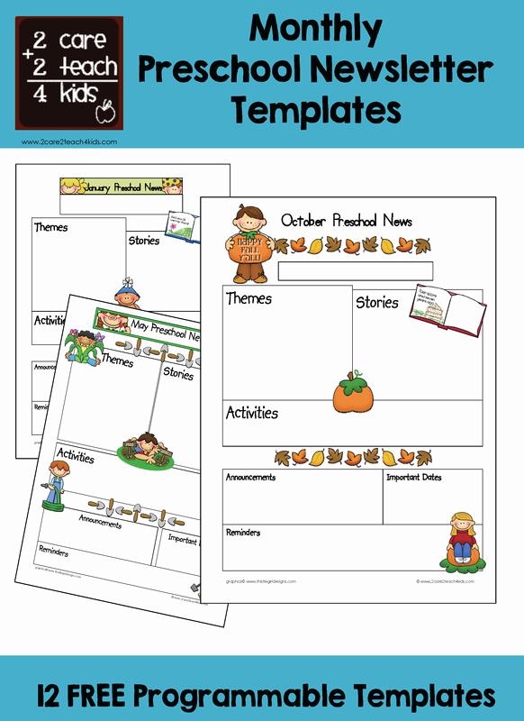 Free Printable Preschool Newsletter Templates Elegant Preschool Newsletters Free Printable Templates