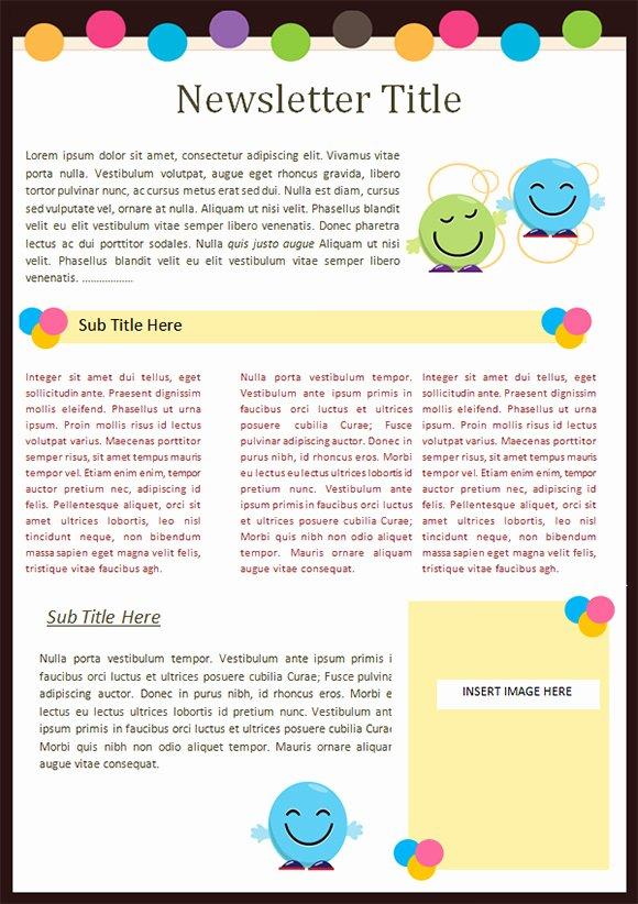 Free Printable Preschool Newsletter Templates Fresh Kaymbu Blog – Insights for Effective School Home