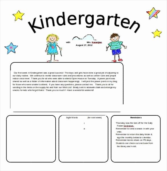 Free Printable Preschool Newsletter Templates Lovely 40 Word Newsletter Template Psd Pdf Doc
