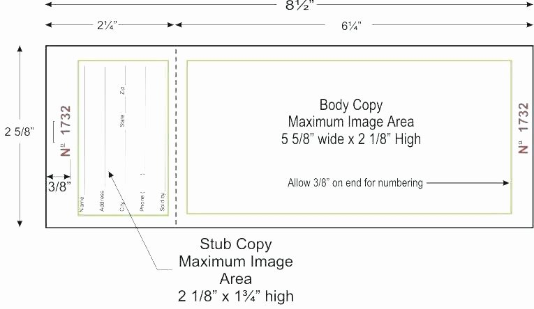 Free Printable Raffle Tickets with Stubs Awesome Raffle Stub Template – Berckman Templates