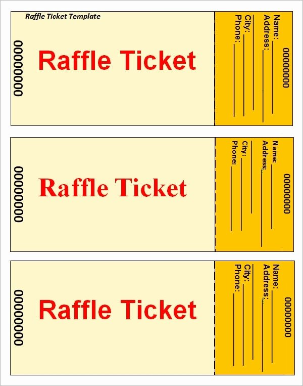 Free Printable Raffle Tickets with Stubs Beautiful Raffle Ticket Templates Beepmunk