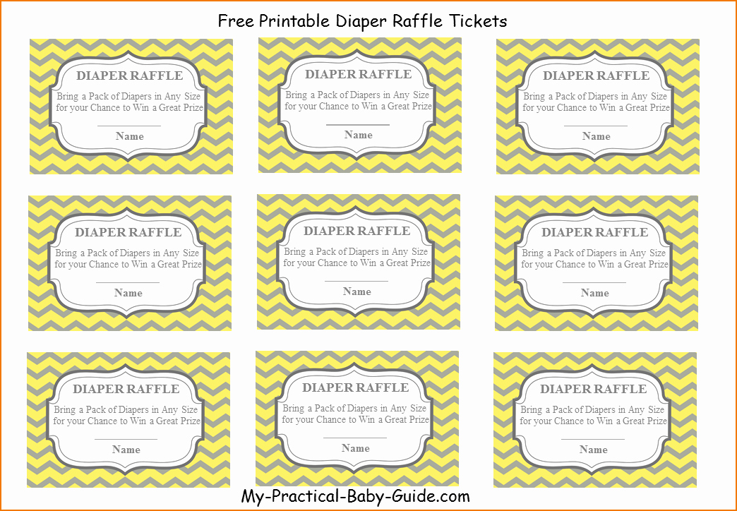 Free Printable Raffle Tickets with Stubs Best Of 4 Printable Raffle Tickets