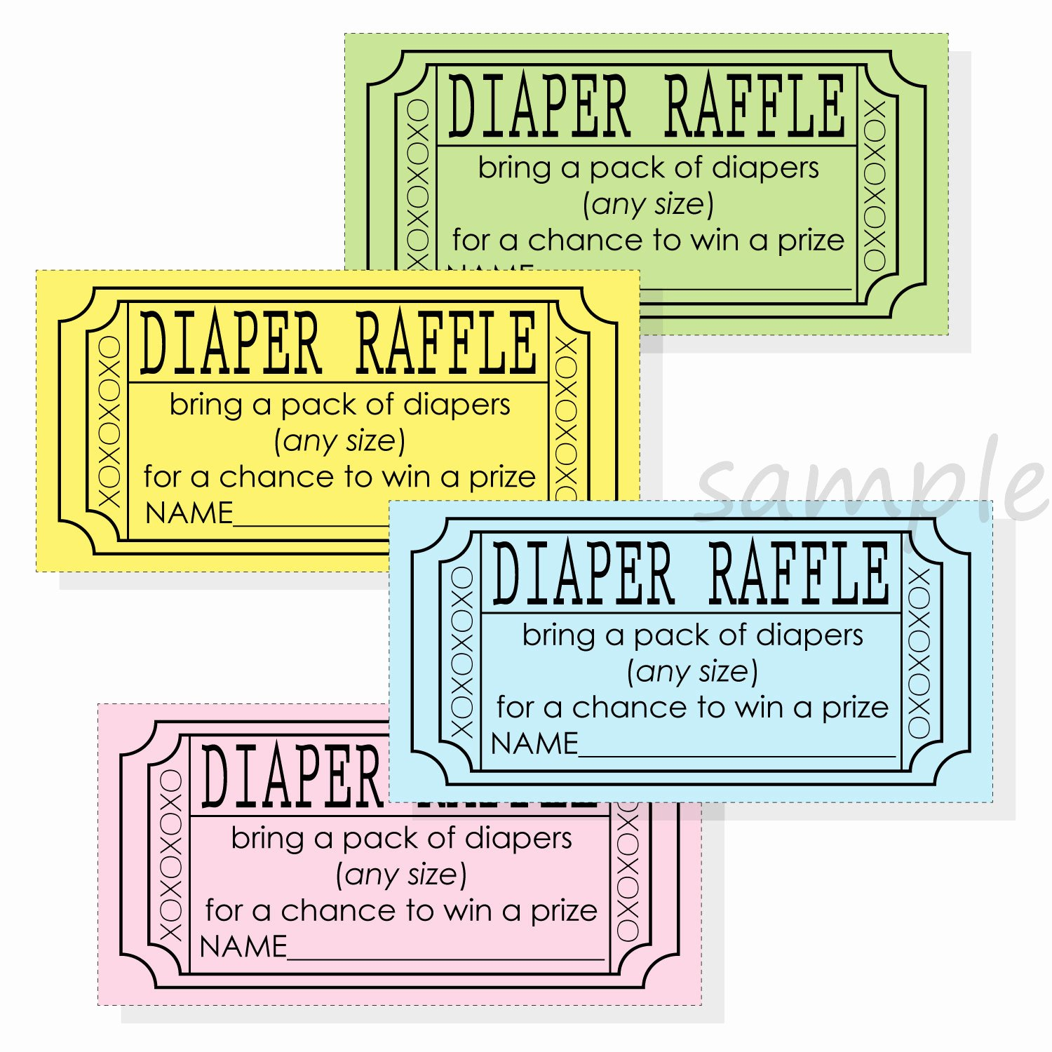 Free Printable Raffle Tickets with Stubs Best Of Diy Diaper Raffle Ticket Stub for A Boy Girl or Gender