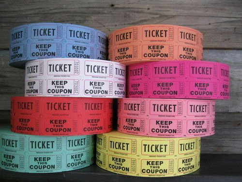 Free Printable Raffle Tickets with Stubs Fresh 1 Case 20 Rolls Of Double Stub 50 50 Raffle Tickets