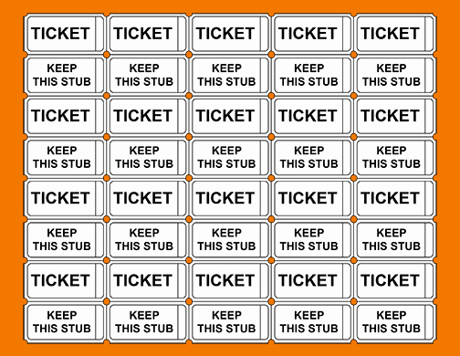 Free Printable Raffle Tickets with Stubs Fresh 6 Free Printable Raffle Tickets Template