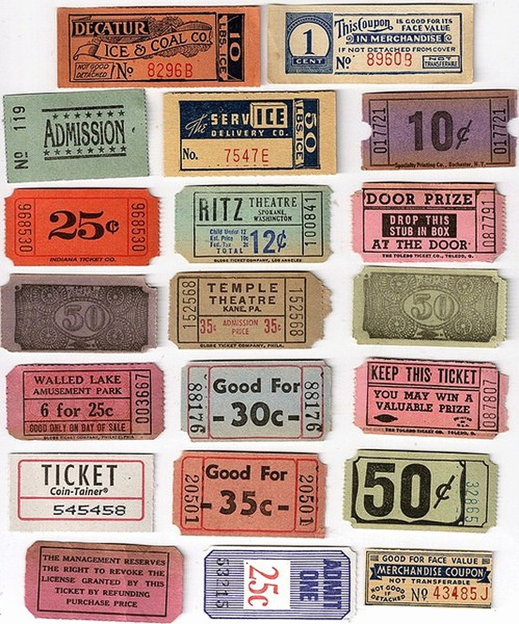 Free Printable Raffle Tickets with Stubs Inspirational 17 Best Images About Main St Vintage Cinema On Pinterest