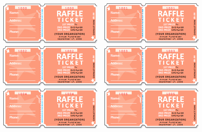 Free Printable Raffle Tickets with Stubs Inspirational 45 Raffle Ticket Templates