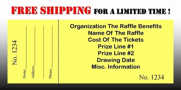 Free Printable Raffle Tickets with Stubs New ordering Custom Printed Raffle Tickets is Easy Simply