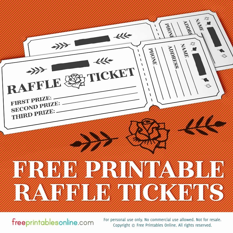Free Printable Raffle Tickets with Stubs New Printable Rosy Raffle Tickets Free Raffle Template