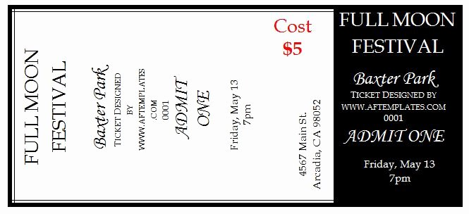 Free Printable Raffle Tickets with Stubs New Template for Tickets with Stubs – Rambiko Templates