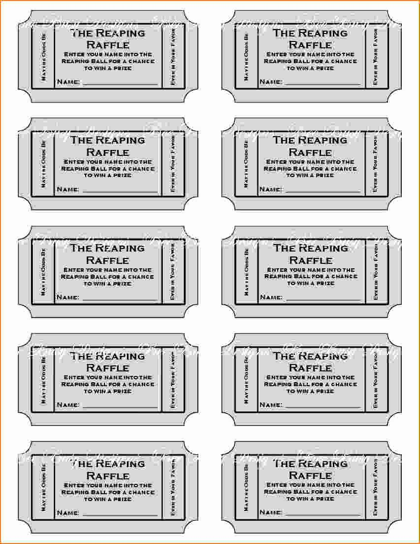Free Printable Raffle Tickets with Stubs Unique Free Printable Raffle Tickets with Stubs Free Download