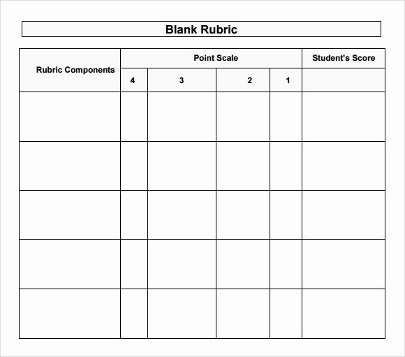 Free Printable Rubric Template Best Of Blank Rubric Template Free Download 40 High School
