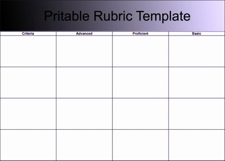 Free Printable Rubric Template Fresh Blank Grading & Project Rubric Template Word Doc