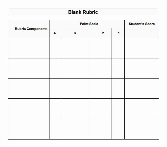 Free Printable Rubric Template Inspirational 10 Blank Rubric Samples