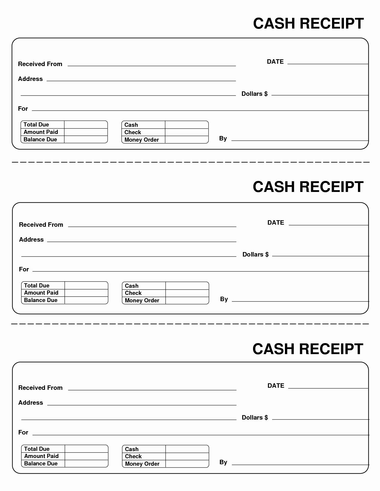 Free Printable Sales Receipt Elegant Printable Cash Receipts