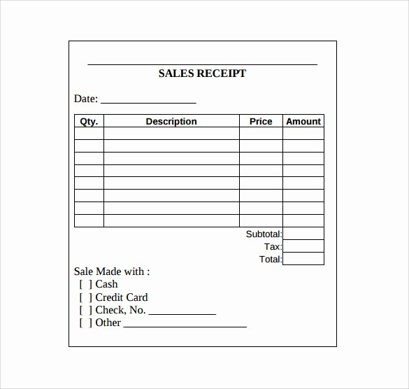 Free Printable Sales Receipt Fresh Sales Receipt Template 10 Download Free Documents In