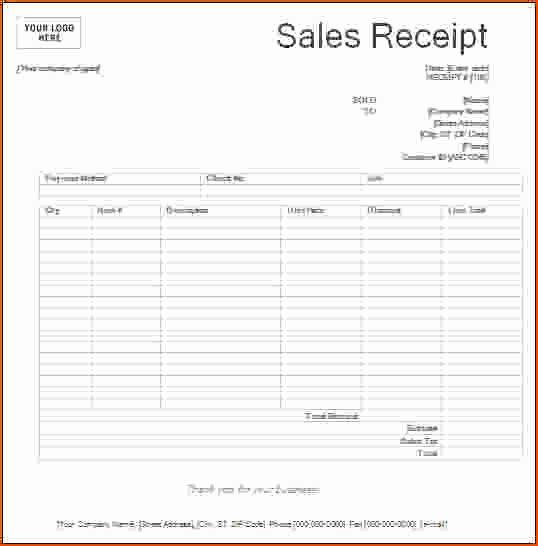 Free Printable Sales Receipt New 8 Printable Receipts Bookletemplate