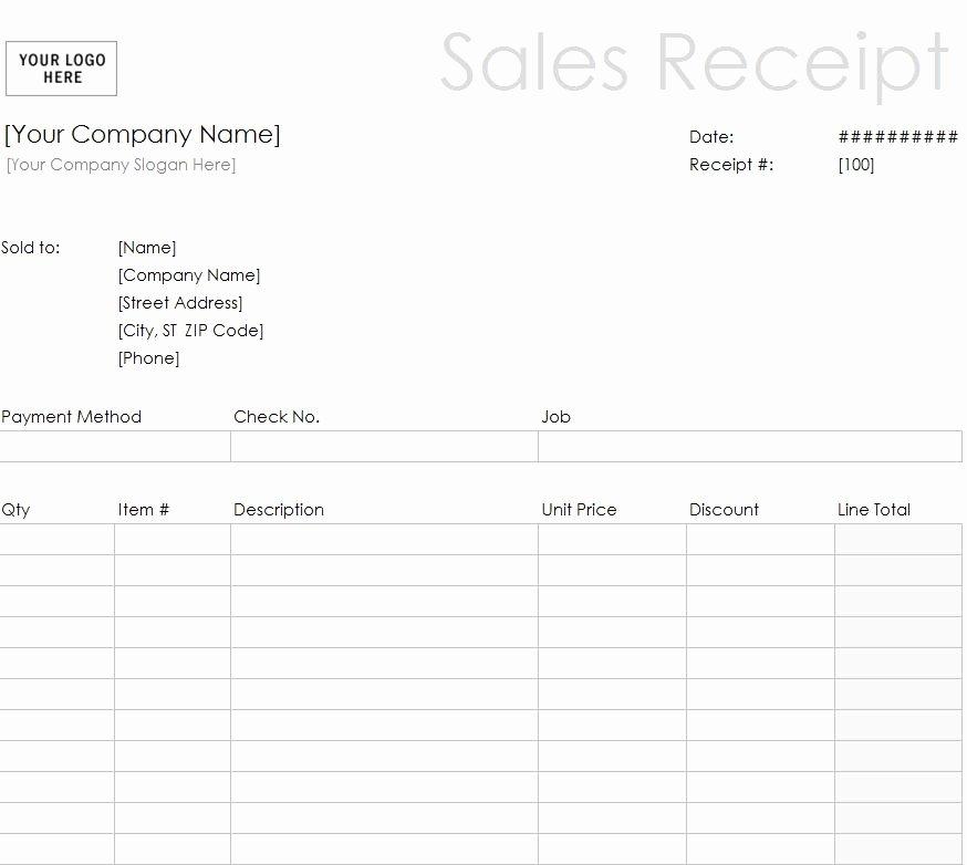 Free Printable Sales Receipt New Printable Sales Receipt Template