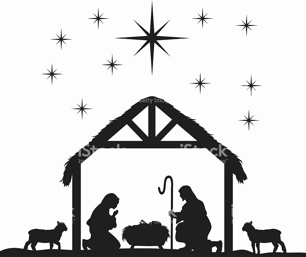 Free Printable Silhouette Of Nativity Scene Awesome Free Printable Nativity Silhouette at Getdrawings