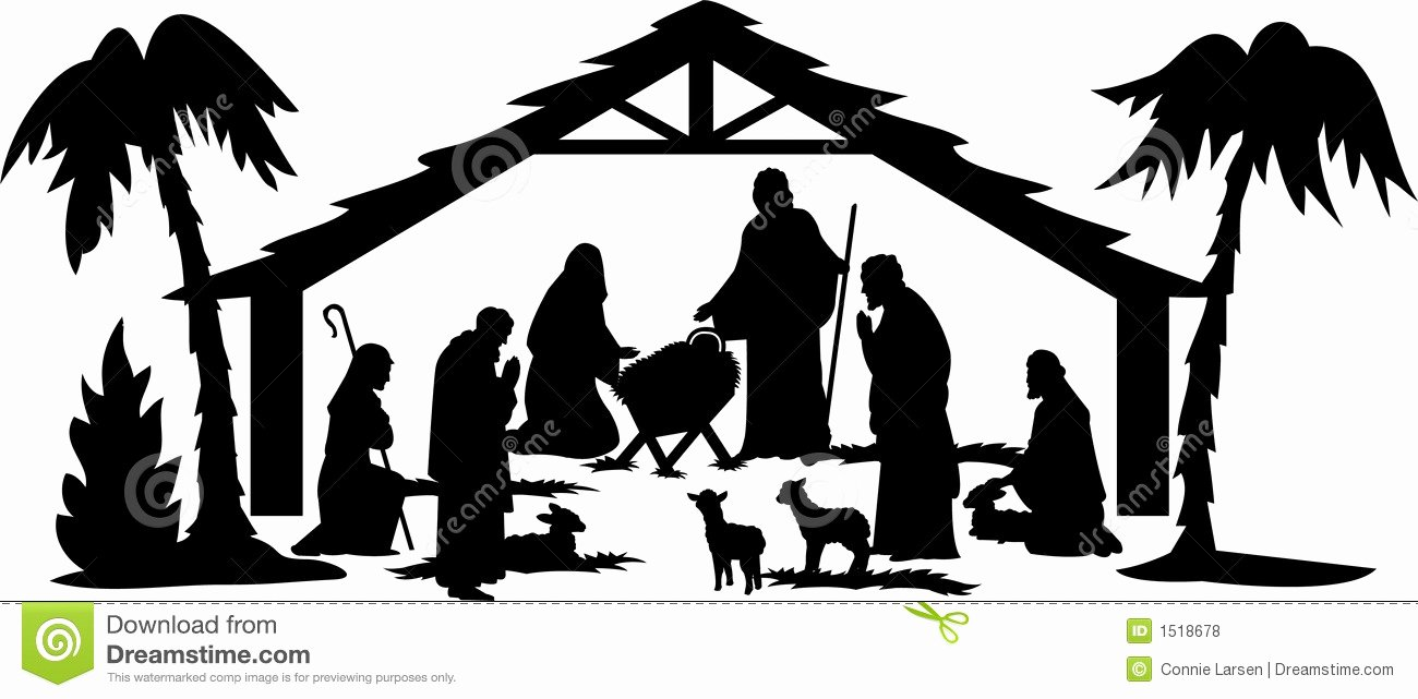 Free Printable Silhouette Of Nativity Scene Best Of Nativity Silhouette Eps Stock Vector Illustration Of