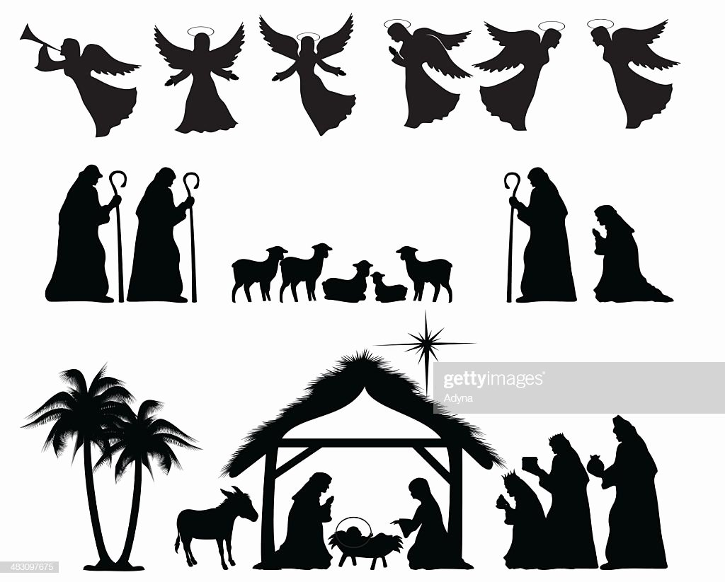 Free Printable Silhouette Of Nativity Scene Best Of Nativity Silhouette Vector Art