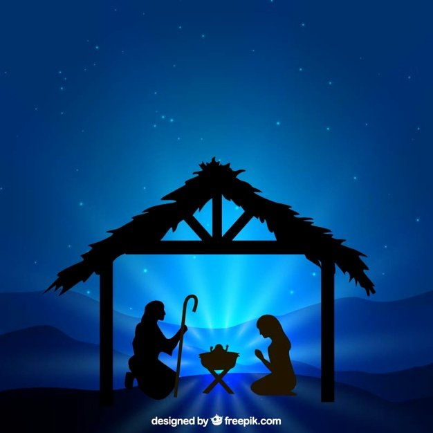 Free Printable Silhouette Of Nativity Scene Elegant Nativity Scene Silhouette Illustration Vector