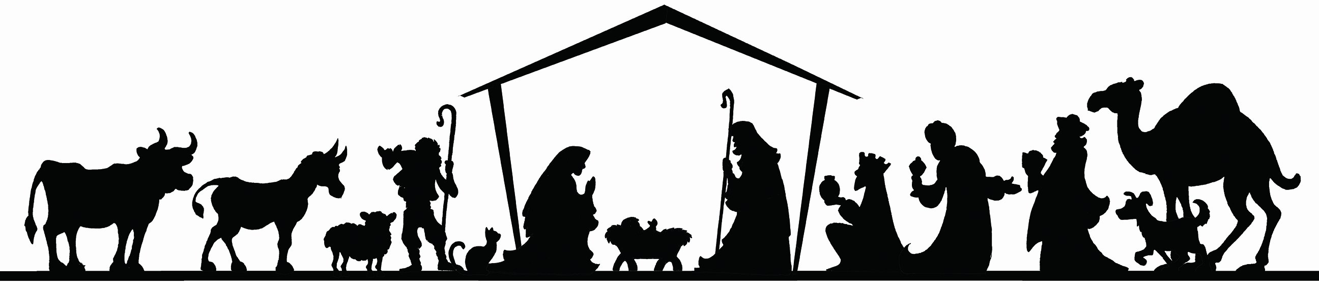 Free Printable Silhouette Of Nativity Scene Fresh How to Diy Nativity Board