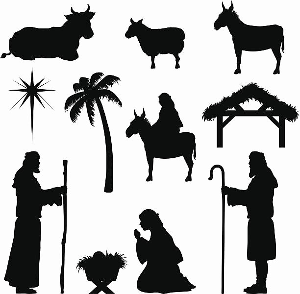Free Printable Silhouette Of Nativity Scene Luxury Royalty Free Shepherd Clip Art Vector